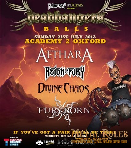Metal for a Cause – Headbangers Balls at the O2 Academy in Oxford, UK, Sunday July 21
