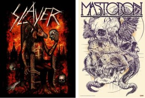 NUCLEAR BLAST JOINS FORCES WITH GLOBAL MERCHANDISING SERVICES TO OFFER EXCLUSIVE SLAYER AND MASTODON LITHOGRAPHS AT COMIC-CON 2013