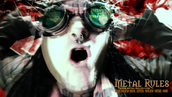 "Screen shot from Ministry music video ""PermaWar"""