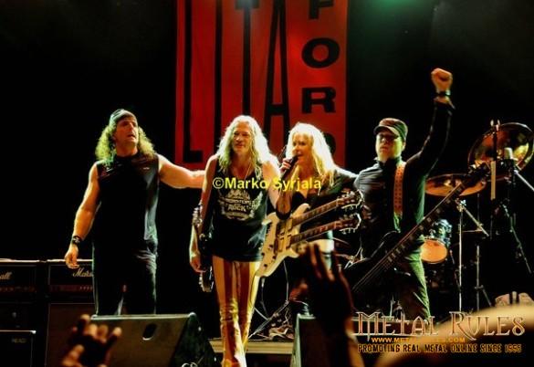 Lita Ford band 2013
