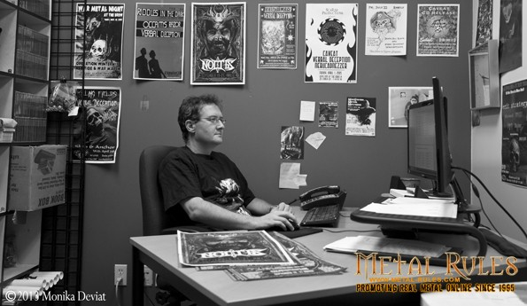 JP working hard at the Scarab Productions office.