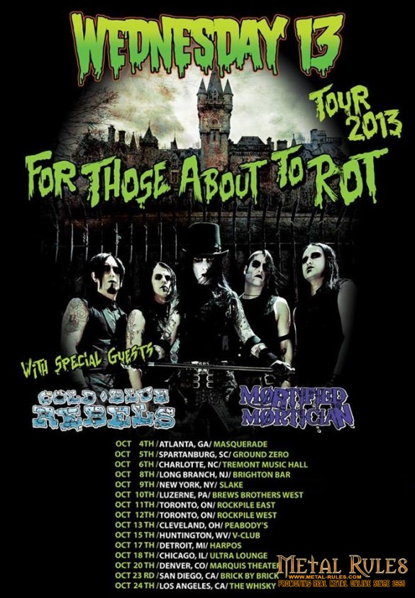 For Those About To Rot: Wednesday 13 at the Whisky A Go Go October 24th 2013