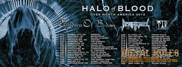 Children of Bodom with Tyr and Death Angel House of Blues Hollywood March 1, 2014 Halo of Blood over North America tour 2014