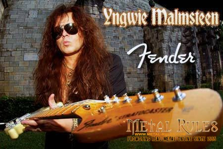 The king of neo-classical shred guitar, legendary guitar virtuoso Yngwie Malmsteen,