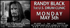 1st US Randy Black of Primal Fear Drum Clinic - May 5th 2014 in Chicago