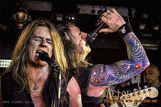 Davey Shields (left) and Harv Harbinson of Stormzone at Metalfest IV at Diamond Rock Club
