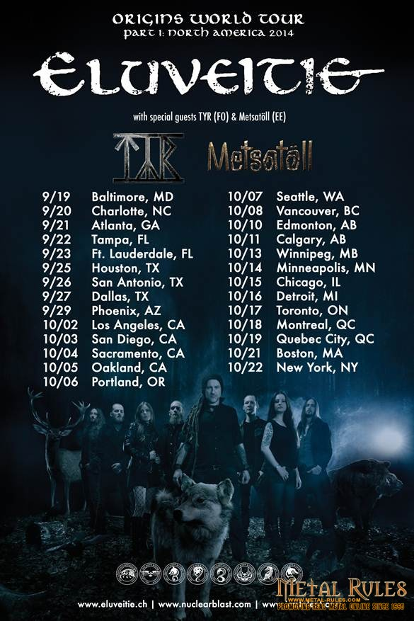 ELUVEITIE: Announce North American Tour this Fall