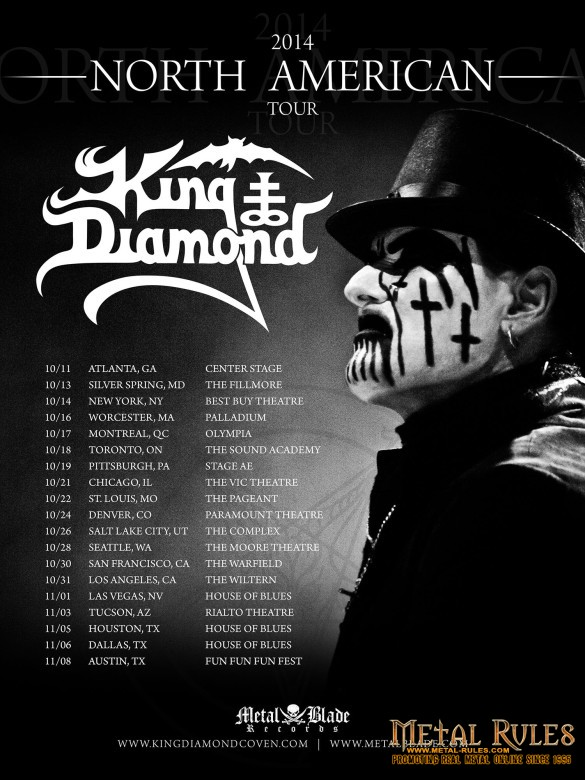 KING DIAMOND Announces North America Fall Tour 2014!