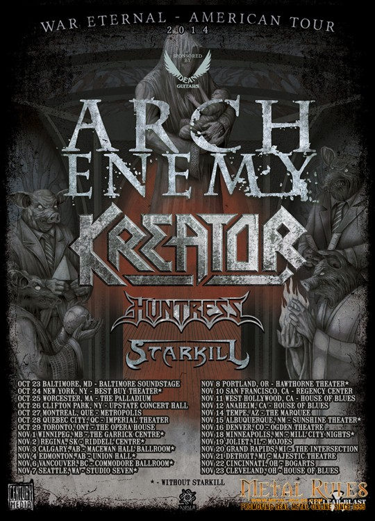 KREATOR with Arch Enemy Fall 2014 Tour - 10 inch @ 75 dpi - FINAL