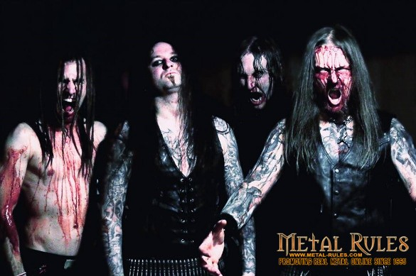 Belphegor's 2013 live lineup: from the left, Marthyn, Serpenth, Schoft, Helmuth