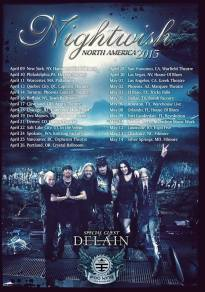 NIGHTWISH ANNOUNCE HEADLINING NORTH AMERICAN TOUR FOR 2015
