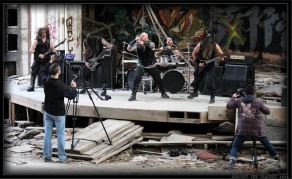 "AGAINST THE PLAGUES - BEHIND THE SCENES PHOTO FROM MAKING OF ""TERRORFORM"" VIDEO"