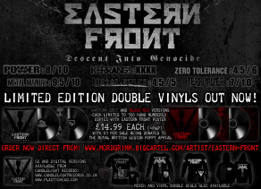 WAR TORN BLACK METALLERS EASTERN FRONT RAISE MONEY FOR THE POPPY APPEAL THROUGH DOUBLE VINYL RELEASE