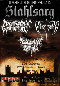 Hibernacula Records presents an evening of black metal fury