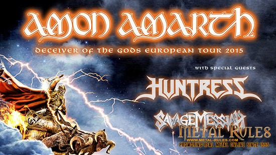 Amon Amarth, Huntress and Savage Messiah, Manchester Academy 2 – 25/01/15