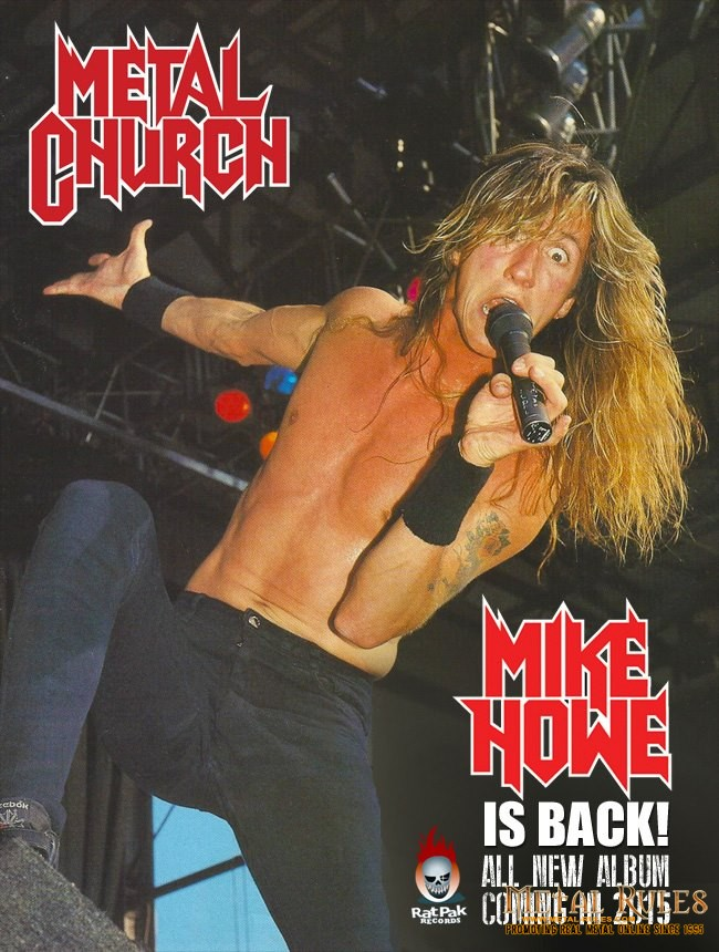 LEGENDARY METAL CHURCH SINGER MIKE HOWE RETURNS TO THE BAND!