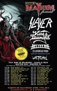 SLAYER To Headline 2015 Rockstar Energy Drink Mayhem Festival; KING DIAMOND, HELLYEAH And Others
