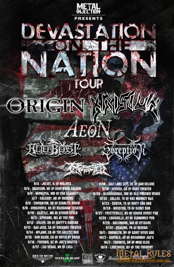 "ORIGIN Join Forces with Brazil's KRISIUN for the ""Devastation on the Nation"" Tour!"
