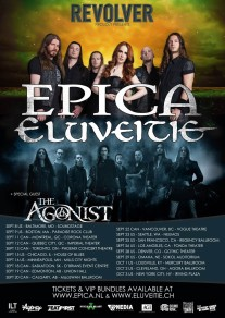 EPICA / ELUVEITIE Partner With Revolver Magazine For North American Co-Headlining Tour This Fall; THE AGONIST Supporting On All Dates