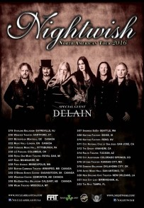 NIGHTWISH ANNOUNCE 2016 NORTH AMERICAN TOUR