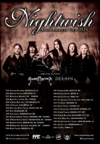 NIGHTWISH 2016 NORTH AMERICAN TOUR