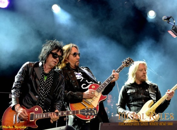 Richie Scarlet, Ace Frehley and Chris Wyse