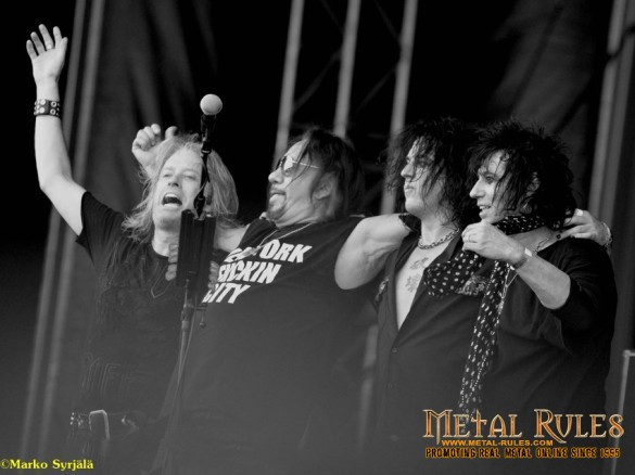 Chris Wyse, Ace Frehley, Scot and Richie Scarflet in Swedenrock 2015