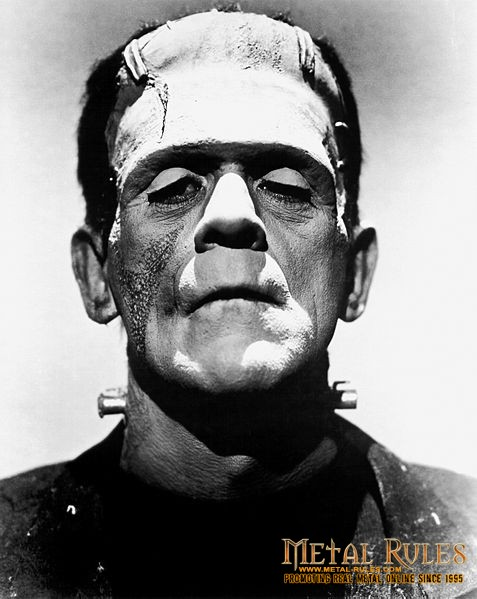 Promotional photo of Boris Karloff from The Bride of Frankenstein as Frankenstein's monster (1935).