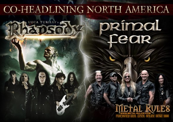 RHAPSODY+PRIMAL FEAR - CO-HEADLINE NORTH AMERICA 2015