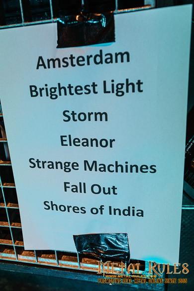 The Gentle Storm Setlist