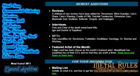 Metal-Rules.com 1999