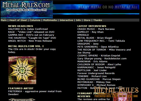 Metal-Rules.com 2003