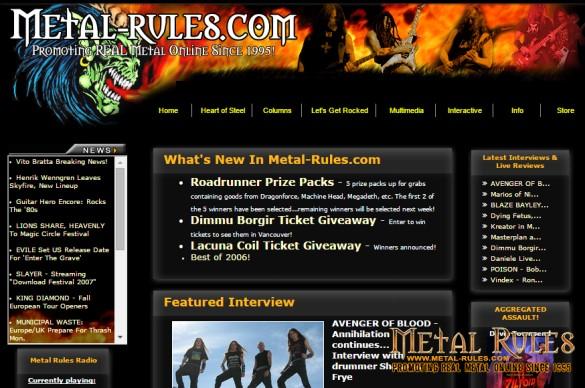 Metal-Rules.com 2007