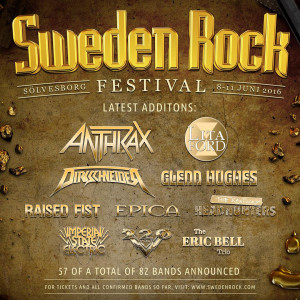 Sweden Rock 2016 - Anthrax, Dirkschneider, Lita Ford and more confirmed!