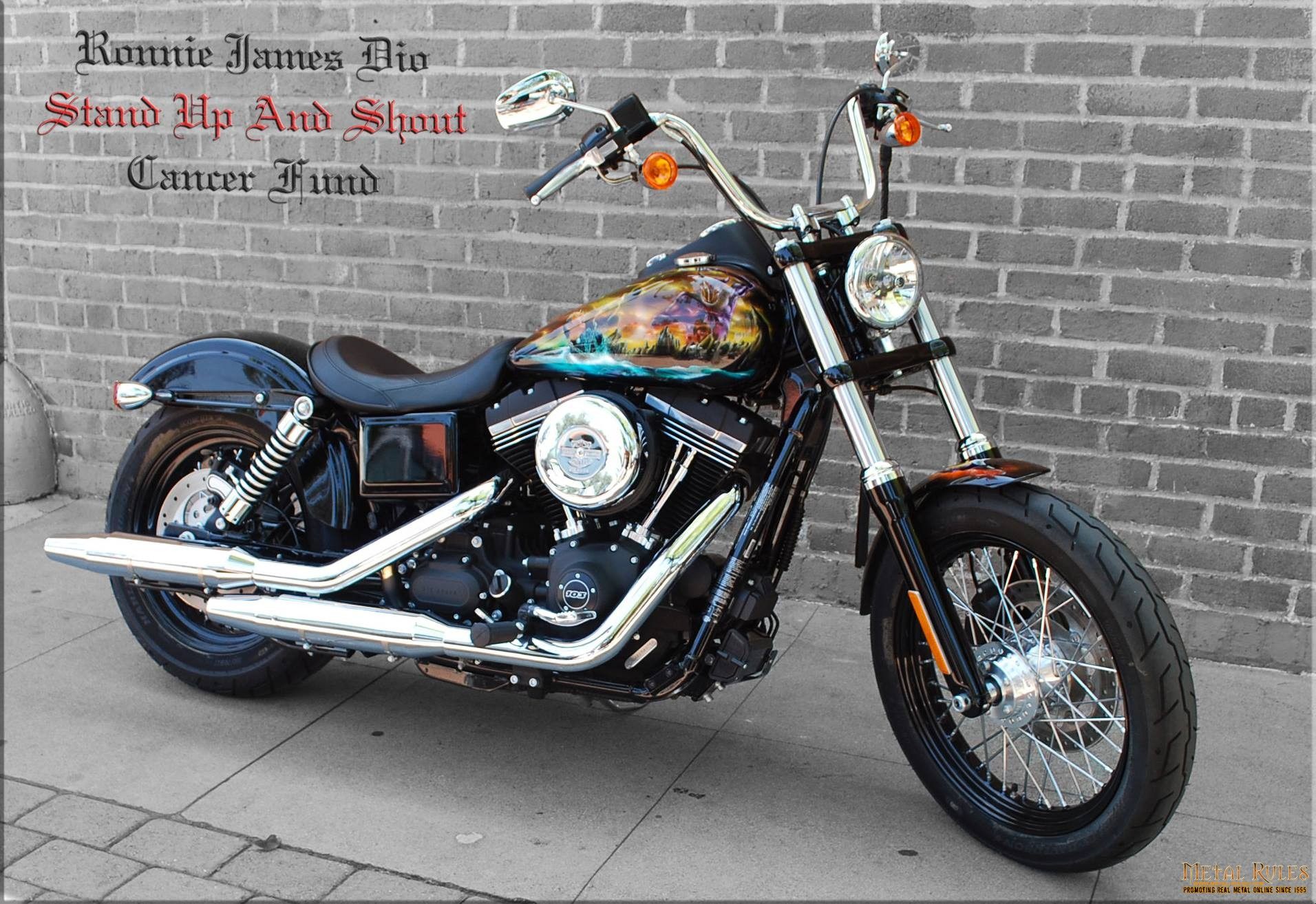 """2015 FXDB """"Holy Diver"""" Harley – Customized Value: $25,000. For bike specs  visit: Harley-Davidson of Glendale Website Two year factory warranty  coverage ..."""