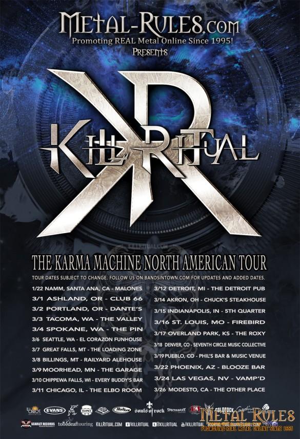 KILL RITUAL - 2016 Spring Tour Poster