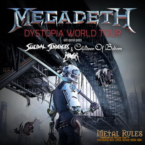 Megadeth / Suicidal Tendencies / Children of Bodom / Havok Sands Bethlehem Events Center Bethlehem, PA March 19, 2016