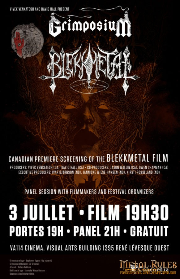 Blekkmetal and Bardspec in Montreal  Grimposium Presents The Norwegian Invasion – July 2 & 3, 2016