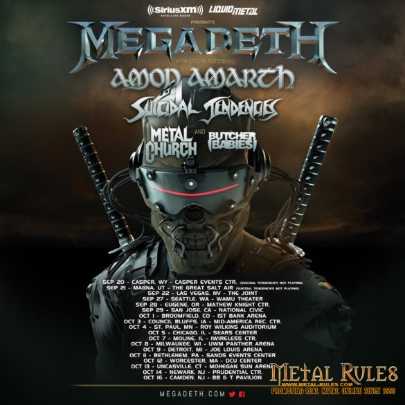Megadeth / Amon Amarth / Suicidal Tendencies / Metal Church / Butcher Babies 2016 Tour