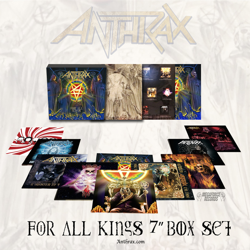 """Anthrax - """"FOR ALL KINGS 7-INCH BOX SET"""""""