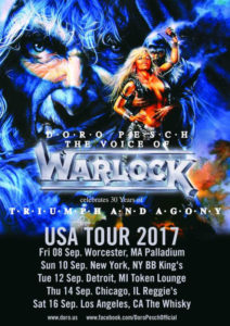 Doro Pesch, The Voice Of WARLOCK, Celebrates 30th Anniversary Of Legendary Triumph And Agony Full-Length; Special US Live Dates Featuring Guitarist Tommy Bolan