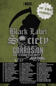 BLACK LABEL SOCIETY ANNOUNCE 2018 TOUR DATES