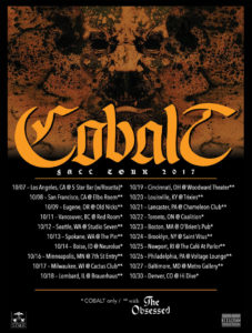 COBALT: Apocalyptic Metal Duo To Join North American Tour With The Obsessed This Weekend; Additional One-Off Dates Confirmed