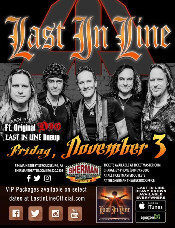 Last in Line Sherman Theater, Stroudsburg, PA November 3rd 2017