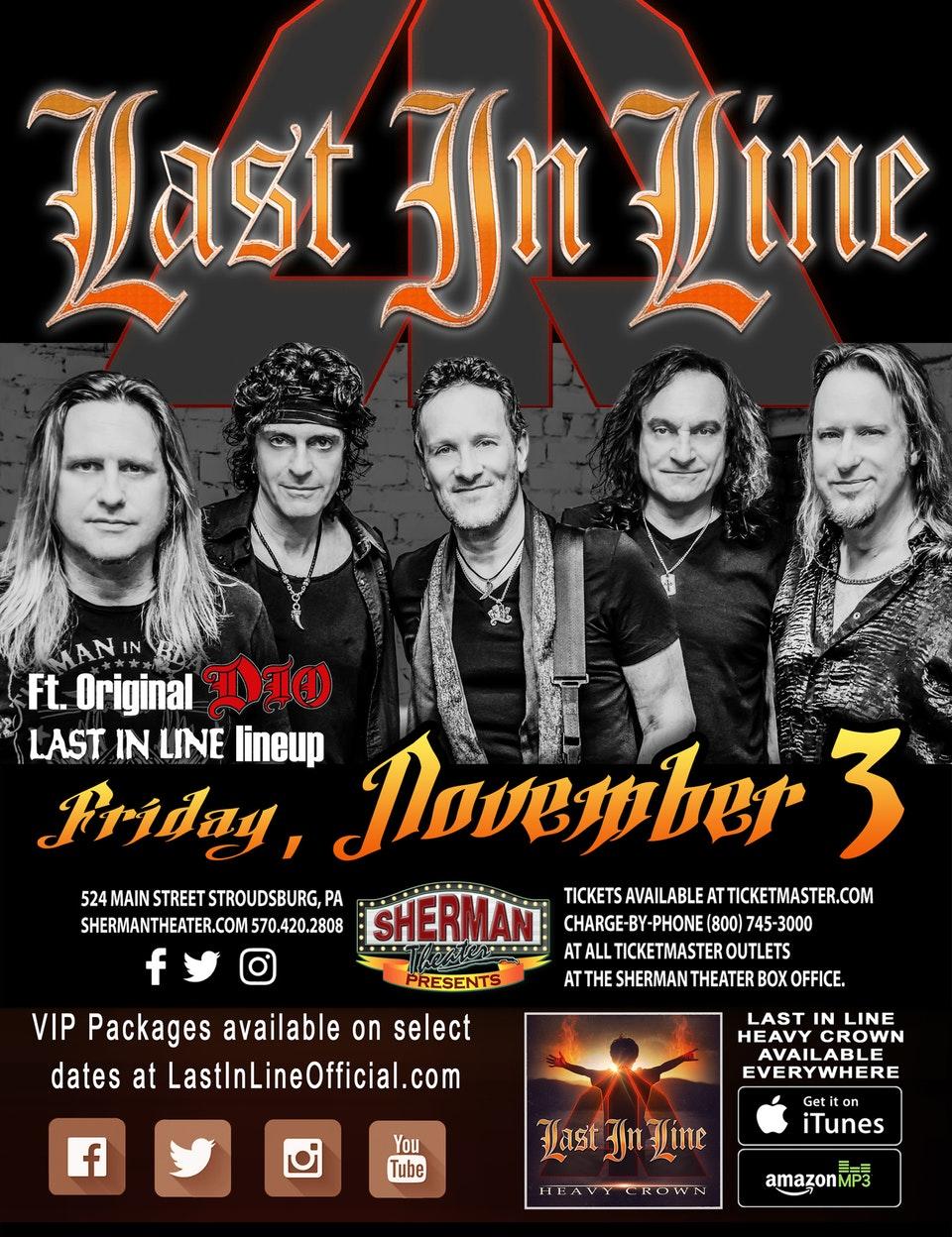 Last in Line Sherman Theater, Stroudsburg, PA November 3rd 2017