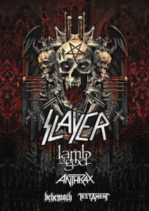 BEHEMOTH To Support Slayer On The North American Leg Of Their Final World Tour Alongside Lamb Of God, Anthrax, And Testament
