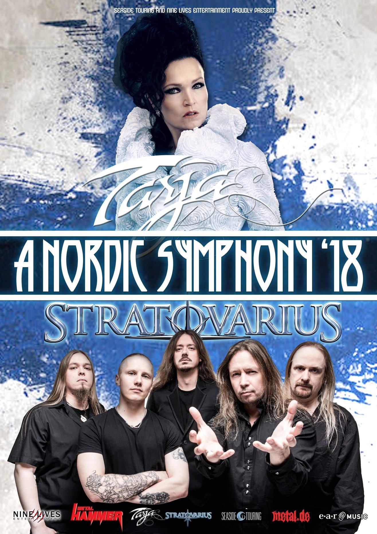 TARJA TURUNEN AND STRATOVARIUS ANNOUNCE A NORDIC SYMPHONY '18 CO-HEADLINE TOUR