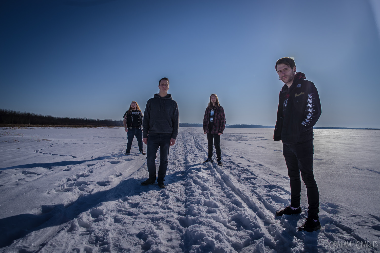 VALYRIA: L-R – Andrew Traynor - Guitar/Vocals, Mitchell Stykalo - Drums, Jeremy Puffer - Guitar/Vocals, Cam Dakus - Bass/ Lead Vocals