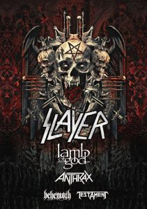Slayer North American tour 2018 poster
