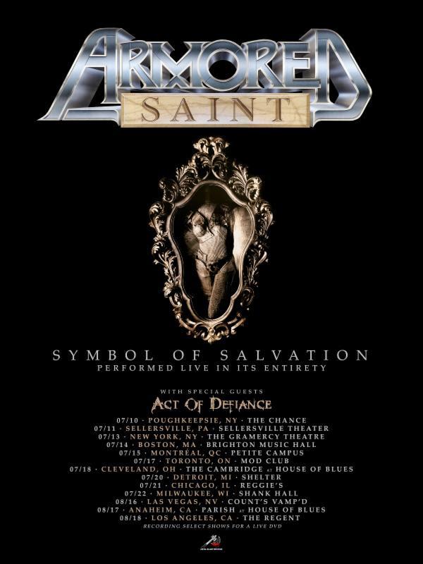 ARMORED SAINT: North American Headlining Tour 2018
